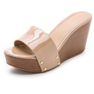 Splendid Greenville Wedge slippers nude Sz 11 EUC